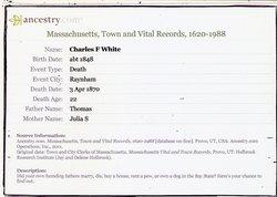 Charles F White