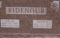 Emma C. <I>Reasen</I> Ridenour