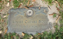 Louise <I>Cleare</I> Boss