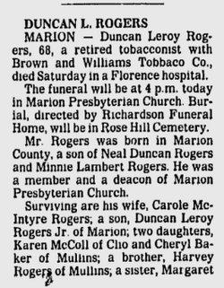 Duncan Leroy Rogers