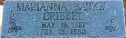 Marianna <I>Barker</I> Cribbet