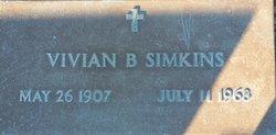 Vivian B Simkins