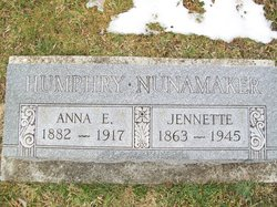 Anna E <I>Nunamaker</I> Humphry