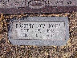 Dorothy <I>Lotz</I> Jones