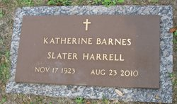 Katherine <I>Barnes</I> Slater Harrell