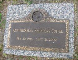 Ann <I>Hickman</I> Saunders Coffee