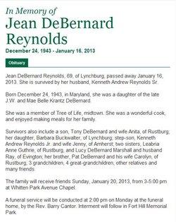 Jean <I>DeBernard</I> Reynolds