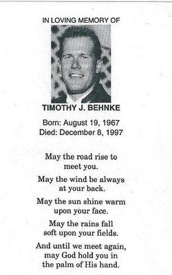 """Timothy John """"Tim"""" Behnke"""
