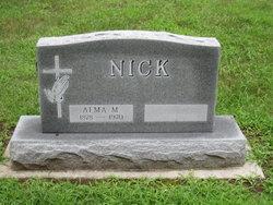Alma M <I>Drews</I> Nick