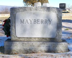 Martha K <I>Lehman</I> Mayberry