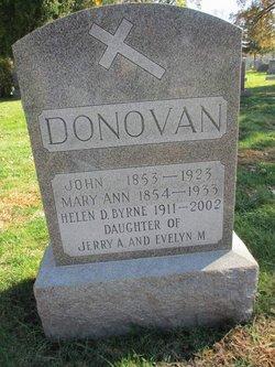 Mary Ann <I>Foley</I> Donovan