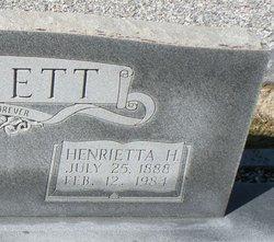 "Henrietta ""Ettie"" <I>Herrin</I> Bennett"
