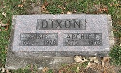 Susie <I>Rhodes</I> Dixon