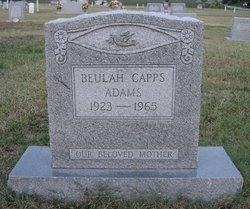 Beulah <I>Capps</I> Adams