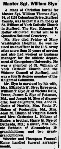William Thomas Slye, Sr