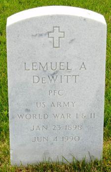 Lemuel A Dewitt