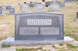 Irene Belzora <I>Hathcock</I> Hinson