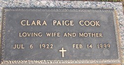 Clara <I>Paige</I> Cook