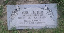 Annie Laura Marie <I>Strickland</I> Butler
