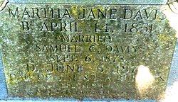 Martha Jane <I>Burgess</I> Davis