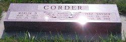 Inez <I>Snyder</I> Corder