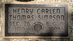 Henry Garlen Thomas Simpson