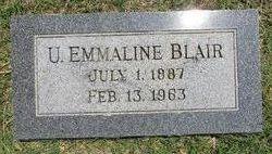 U. Emmaline <I>Cline</I> Blair