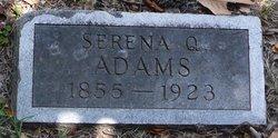 Serena Q <I>Briggs</I> Adams
