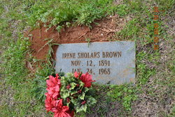 Irene <I>Sholars</I> Brown