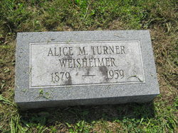 Alice Mary <I>Turner</I> Weisheimer