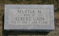 Myrtle M <I>Walz</I> Cain