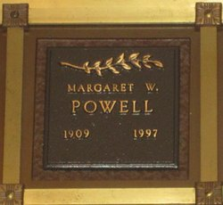 Margaret <I>Waterman</I> Powell