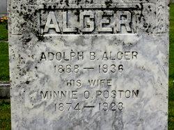 Minnie Ola <I>Poston</I> Alger