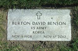 """Burton David """"Burt"""" Benson"""