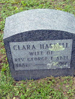Clara May <I>Haskell</I> Abel