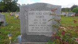 Mary Alice <I>Gunter</I> Sports