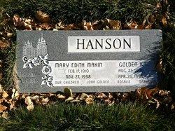 Mary Edith <I>Makin</I> Hanson