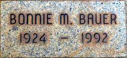 Bonnie M <I>Bennett</I> Bauer