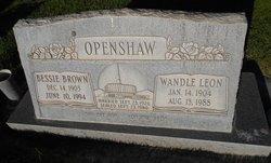 Bessie <I>Brown</I> Openshaw