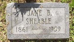 Jane B Sheable
