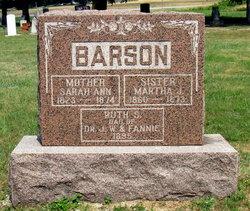 Sarah Ann <I>Jennings</I> Barson