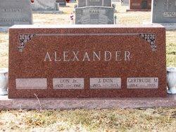 J Don Alexander