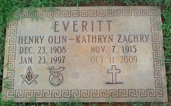 Mary Kathryn <I>Zachry</I> Everitt