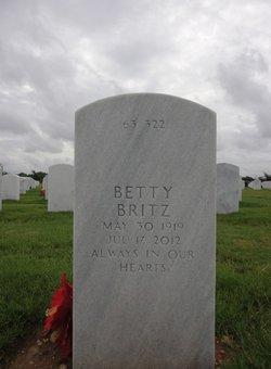Betty <I>Eager</I> Britz
