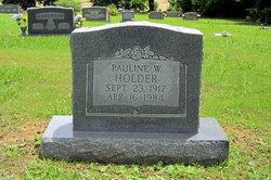 Pauline W Holder