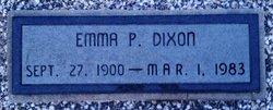 Emma P <I>King</I> Dixon