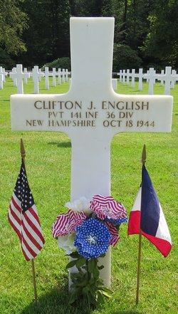 Pvt Clifton J English