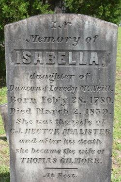 Isabella <I>McNeill</I> Gilmore