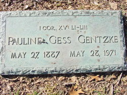 Pauline Louise <I>Gess</I> Gentzke