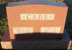 Mary M Cade